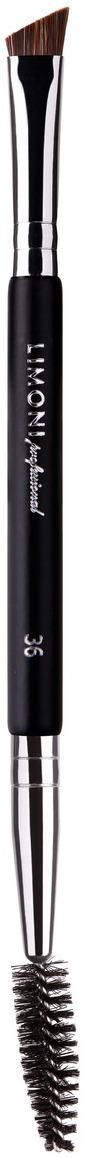 Кисть для бровей и ресниц Limoni Professional, двусторонняя, №3697613Limoni Professional Кисть двусторонняя для бровей и ресниц № 36Состав: нейлон/коза.Ручка: матовое дерево. Кисть для нанесения и растушевки жидких, сухих, кремовых текстур на лице. С помощью кисти нанесите и растушуйте жидкие, сухие и кремовые текстуры для создания тонкого покрытия. Кисть долговечна, удобна в применении и не требует специального ухода. В домашних условиях кисть можно мыть как обычным шампунем, так и специально предназначенными средствами.