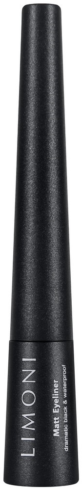 Подводка для глаз Limoni Matt Eyeliner, матовая, водостойкая, тон 01 black, 2,5 мл карандаш для глаз limoni eyeliner pencil 01 цвет 01 black variant hex name 000000
