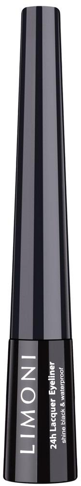 Подводка для глаз Limoni Lacquer Eyeliner, глянцевая, водостойкая, тон 01 black, 2,5 мл карандаш для глаз limoni eyeliner pencil 01 цвет 01 black variant hex name 000000
