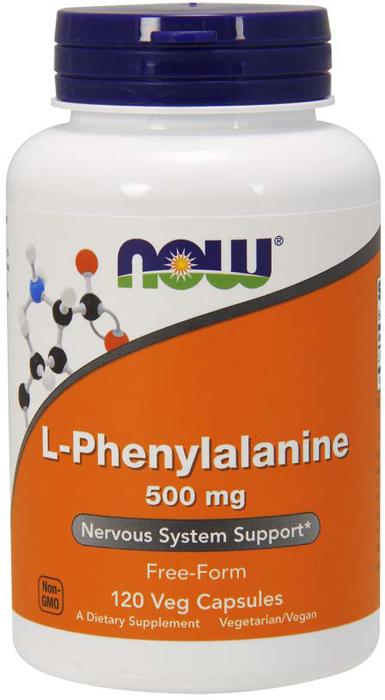 Витаминно-минеральный комплекс Now Foods L-Phenylalanine 500 мг, 120 капсул цена