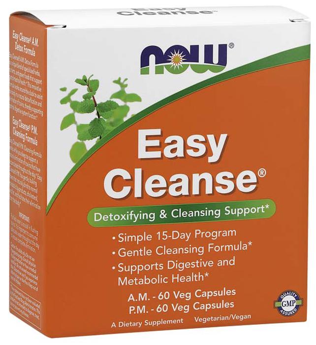 Витаминно-минеральный комплекс Now Foods Easy Cleanse, 120 капсул