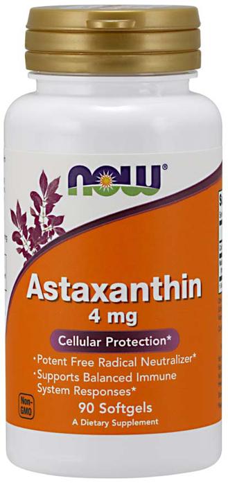 Витаминно-минеральный комплекс Now Foods Astaxanthin 4 мг, 60 мягких капсул