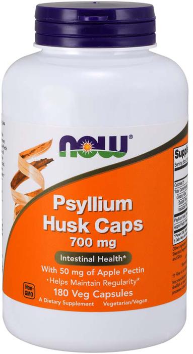 Витаминно-минеральный комплекс Now Foods Psyllium Husk 700 мг + pectin, 180 капсул