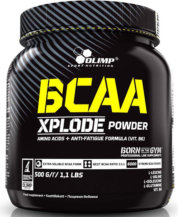 BCAA Olimp Xplode Powder, апельсин, 500 г креатин olimp sport nutrition xplode powder ананас 500 г
