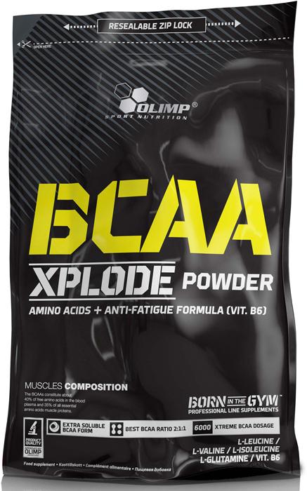 BCAA Olimp Xplode Powder, фруктовый пунш, 1 кг креатин olimp sport nutrition xplode powder ананас 500 г