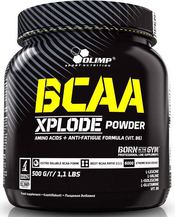 BCAA Olimp Xplode Powder, фруктовый пунш, 500 г креатин olimp sport nutrition xplode powder ананас 500 г
