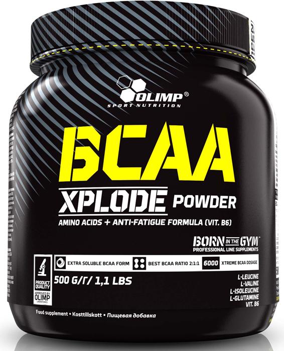 BCAA Olimp Xplode Powder, клубника, 500 г креатин olimp sport nutrition xplode powder ананас 500 г