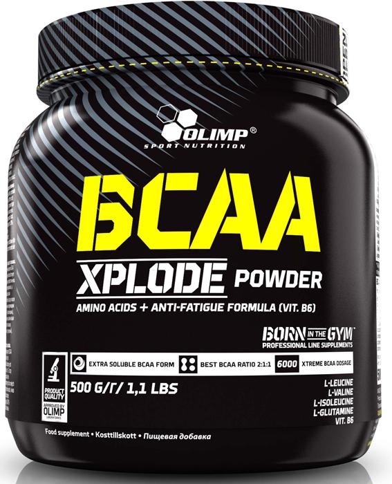 BCAA Olimp Xplode Powder, кола, 500 г креатин olimp sport nutrition xplode powder ананас 500 г