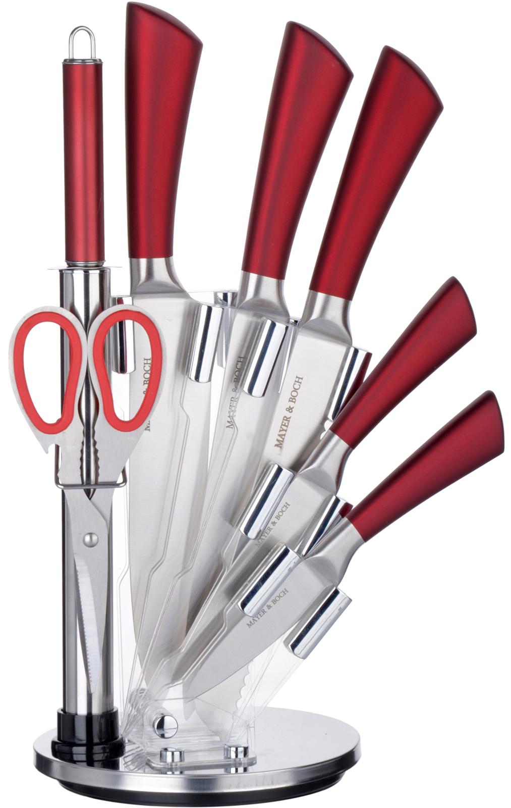 Набор ножей Mayer & Boch, цвет: красный, 8 шт
