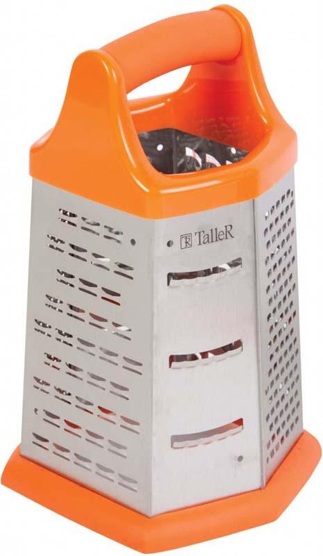 Терка для продуктов Taller, цвет: оранжевый, высота 21 см