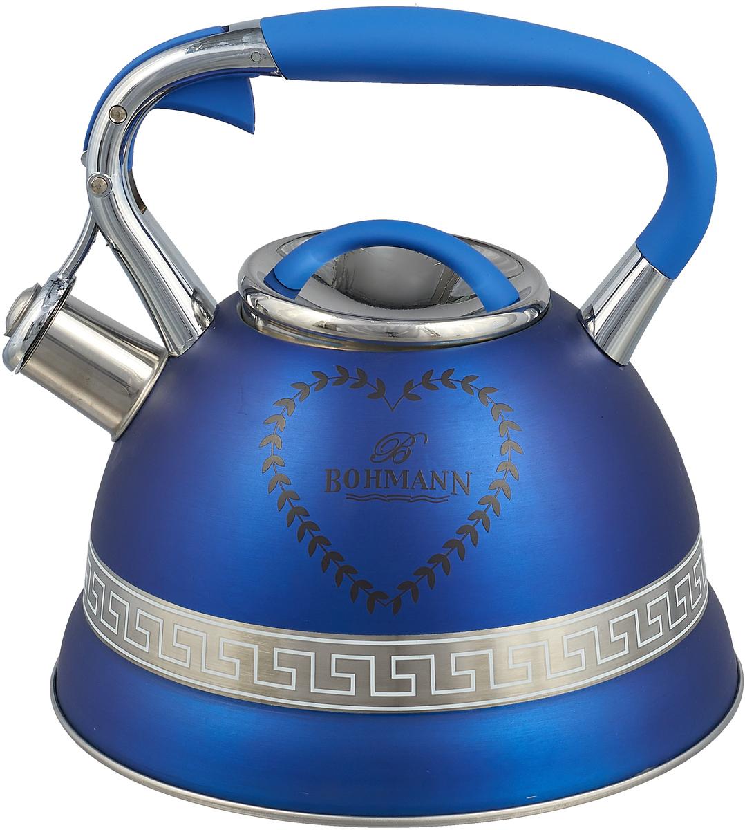 Чайник Bohmann, цвет: синий, 3 л. 9911BH чайник 1 3 л птицы santafe чайник 1 3 л птицы