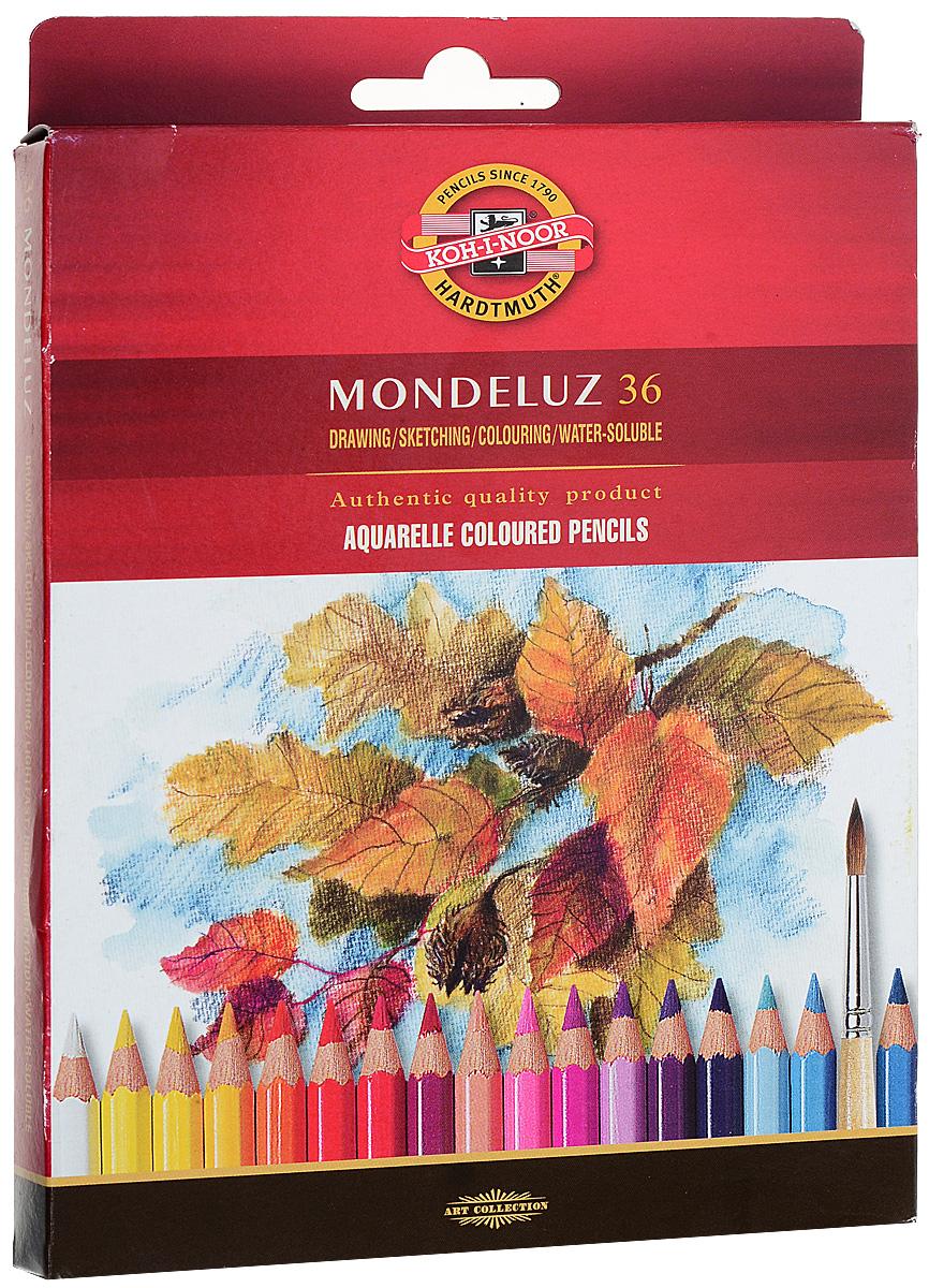 Набор карандашей акварельных MONDELUZ, 36 цв набор карандашей акварельных mondeluz 24 цв