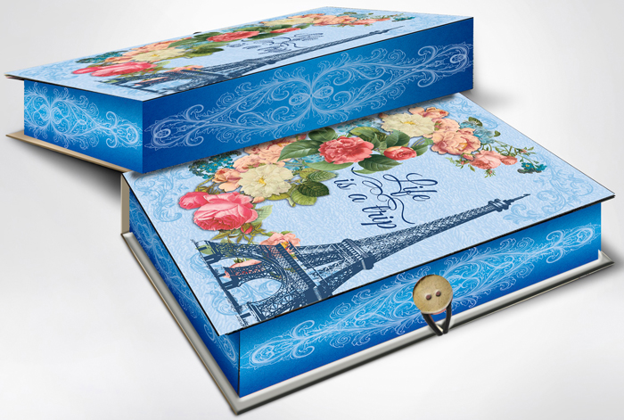 Коробка подарочная Magic Home Апрельский Париж. 42358 коробка подарочная magic home апрельский париж 42359