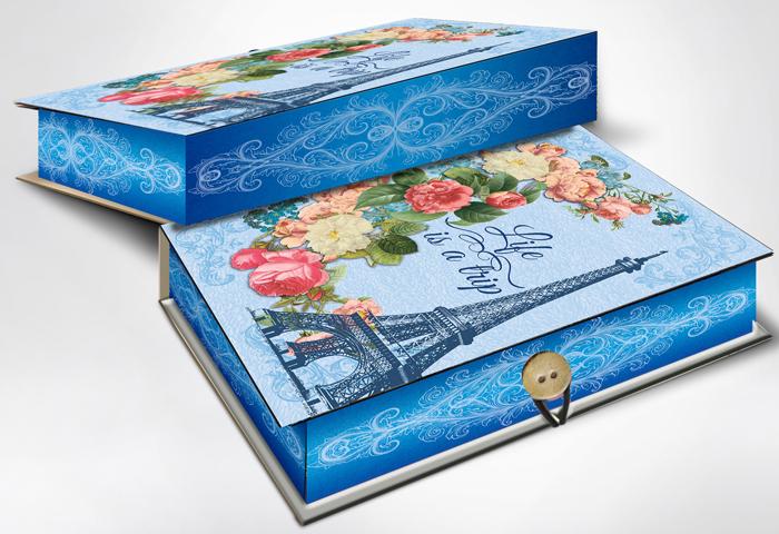 Коробка подарочная Magic Home Апрельский Париж. 42359 коробка подарочная magic home апрельский париж 42359