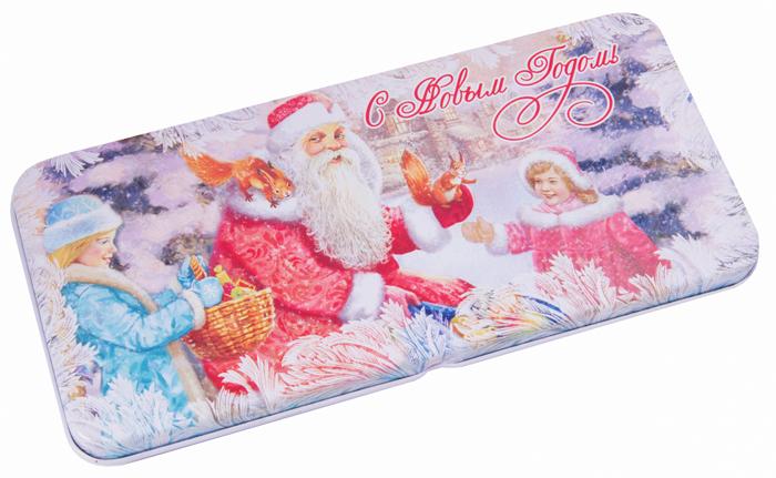 Конверт для денег Magic Time Дедушка Мороз. 7811478114Конверт для денег выполнен из черного окрашенного металла. Крышка оформлена декоративным рисунком. Окружите близких людей вниманием и заботой, вручив презент в нарядном, праздничном оформлении.