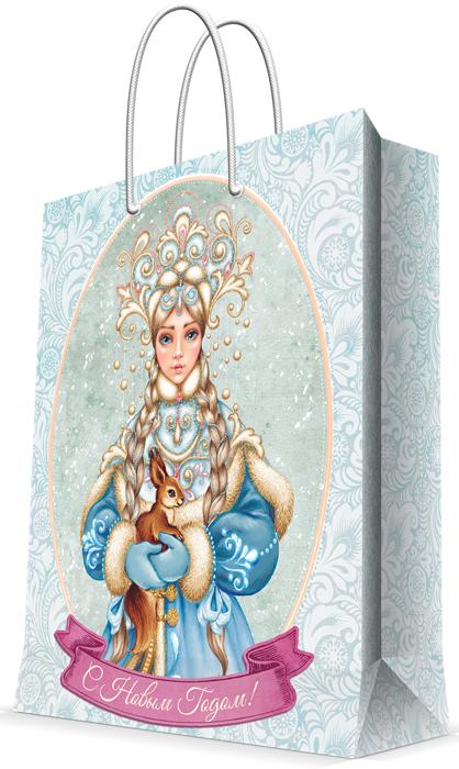 """Пакет бумажный Magic Time """"Снегурочка с белочкой"""", 18 см.78257"""