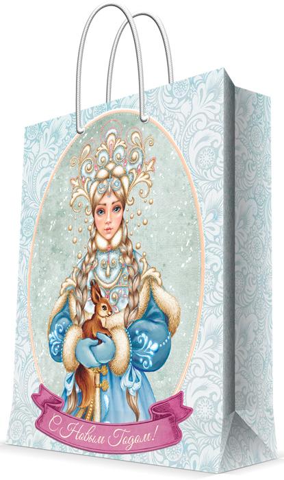 """Пакет бумажный Magic Time """"Снегурочка с белочкой"""", 26 см.78270"""