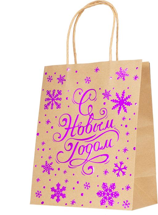 """Подарочная упаковка Magic Time """"С Новым Годом фиолетовый"""", 18 см. 79138"""