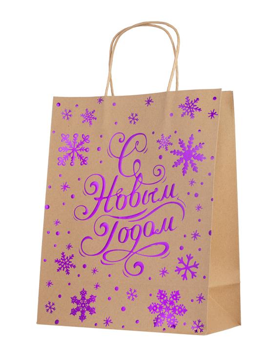 """Подарочная упаковка Magic Time """"С новым годом фиолетовый"""", 26 см. 79145"""