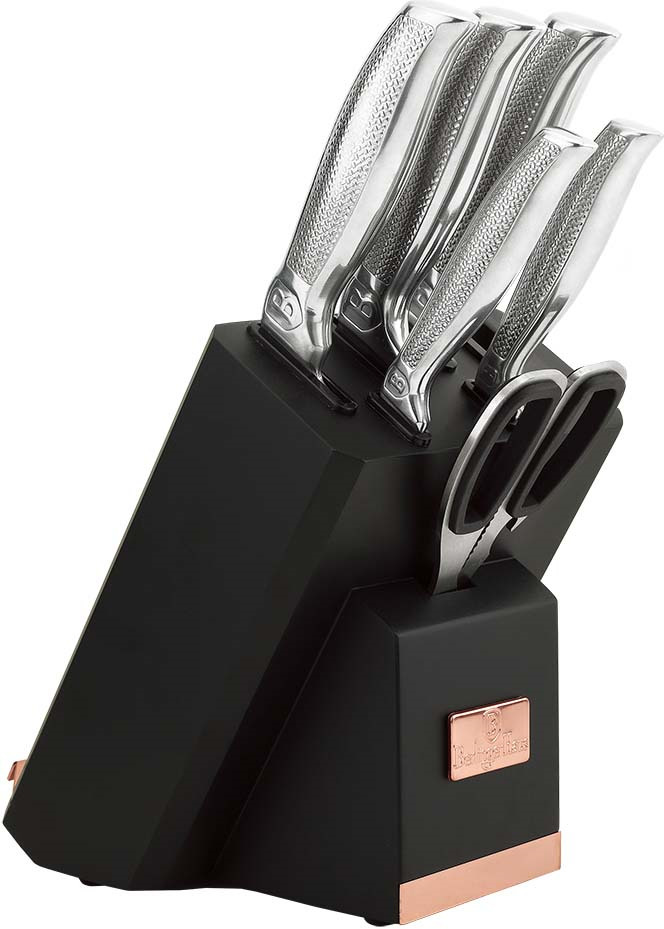 Набор ножей Berlinger Haus Kikoza Line, на подставке, 8 предметов. 2339-BH набор ножей rainstahl на подставке цвет красный серый 8 предметов