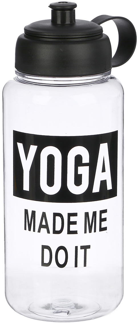 Бутылка для воды Yoga, цвет: прозрачный, 1 л бутылка для сифонов oursson soda sparkle цвет прозрачный оранжевый 1 л