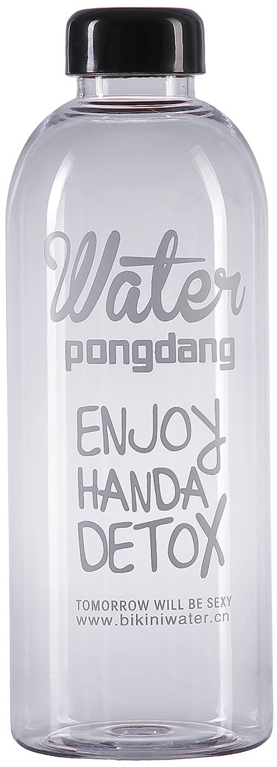 Бутылка для воды Enjoy Handa Detox, цвет: прозрачный, 1 л бутылка для сифонов oursson soda sparkle цвет прозрачный оранжевый 1 л