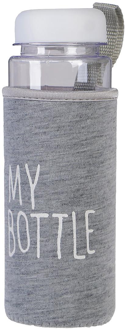 Бутылка для воды My Bottle, в чехле, цвет: белый, 500 мл бутылка для воды my bottle градиент в мешке цвет желтый 500 мл