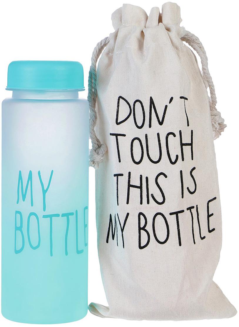 Бутылка для воды My Bottle, градиент, в мешке, цвет: голубой, 500 мл бутылка для воды my bottle в чехле цвет голубой 500 мл