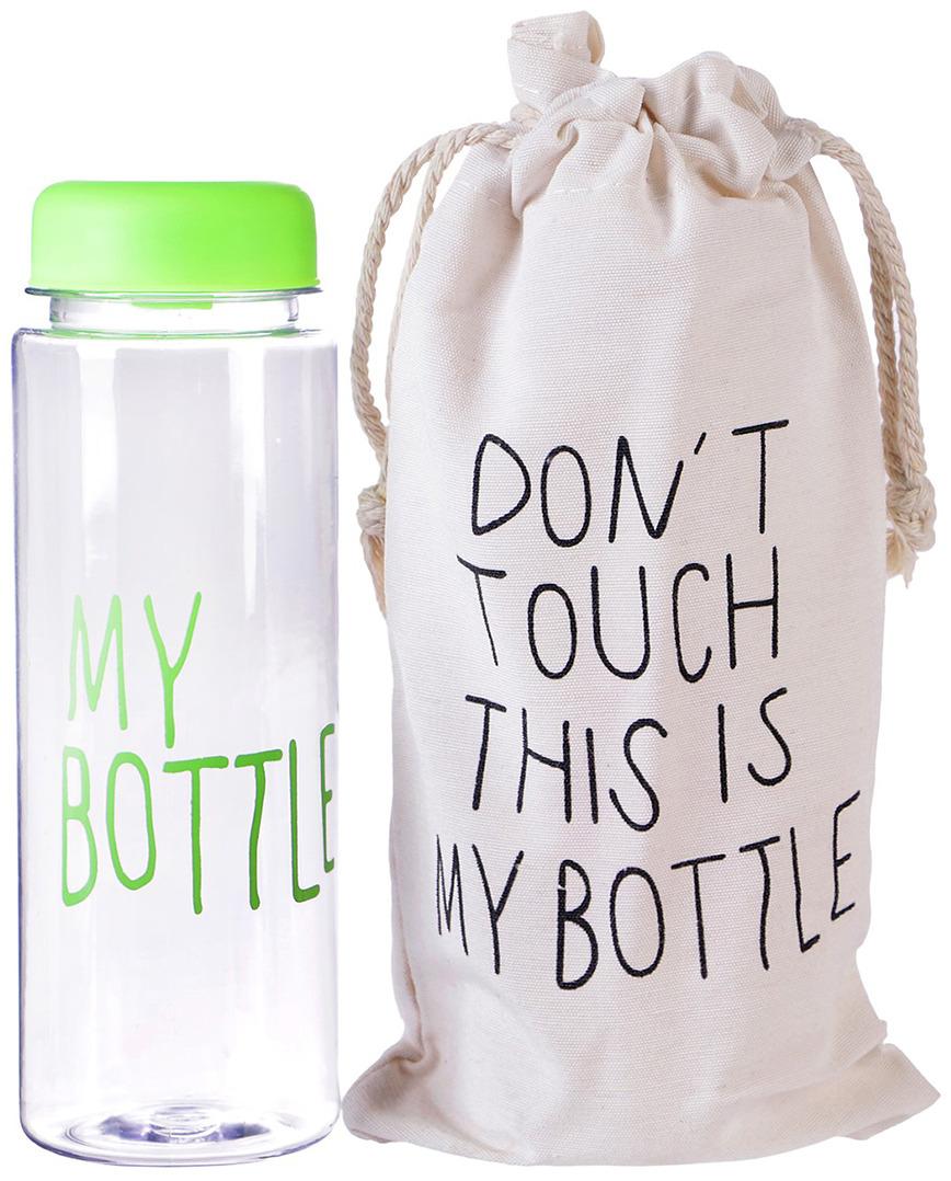 Бутылка для воды My Bottle, в мешке, цвет: зеленый, 500 мл бутылка для воды my bottle градиент в мешке цвет желтый 500 мл