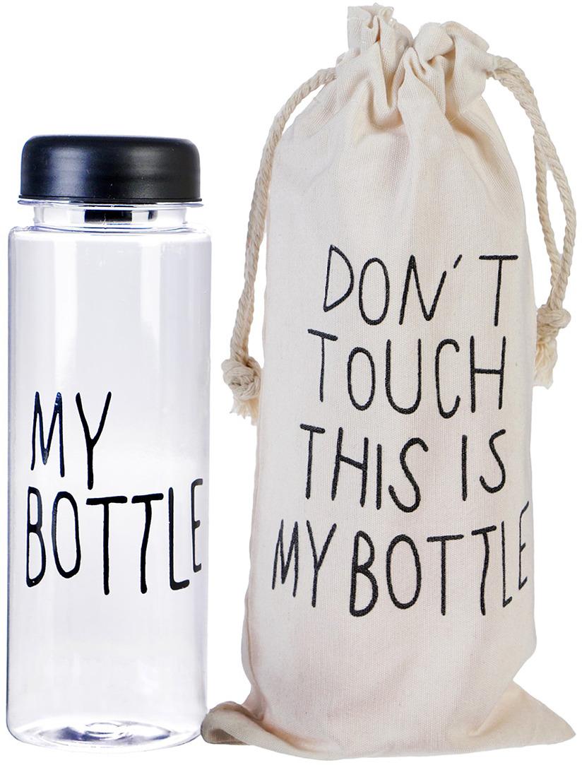 Бутылка для воды My Bottle, в мешке, цвет: черный, 500 мл бутылка для воды my bottle градиент в мешке цвет желтый 500 мл