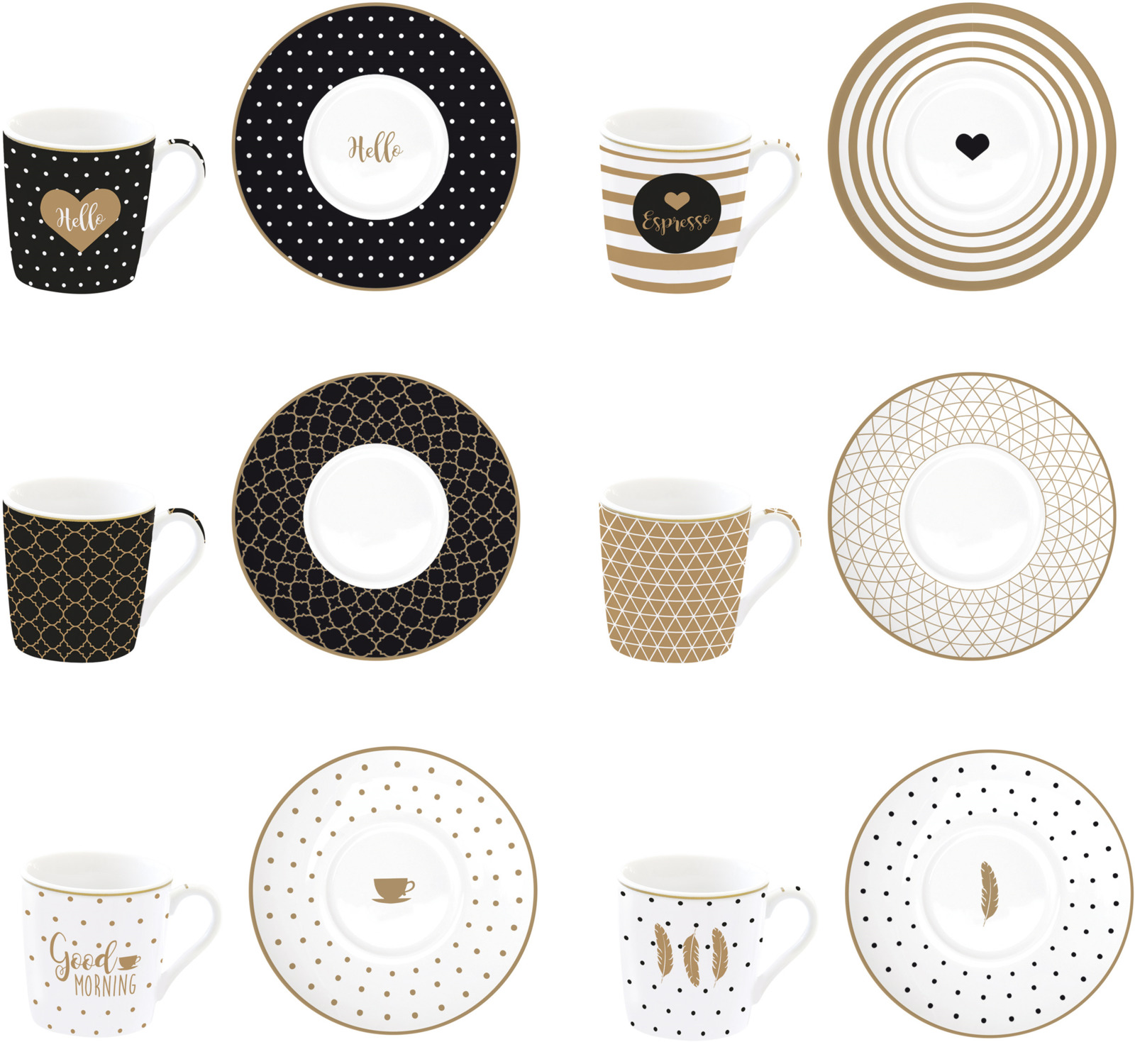 Набор кофейный Easy Life Кофемания Доброе утро, цвет: бежевый, 110 мл, 12 предметов. EL-0126/CMGM r2s