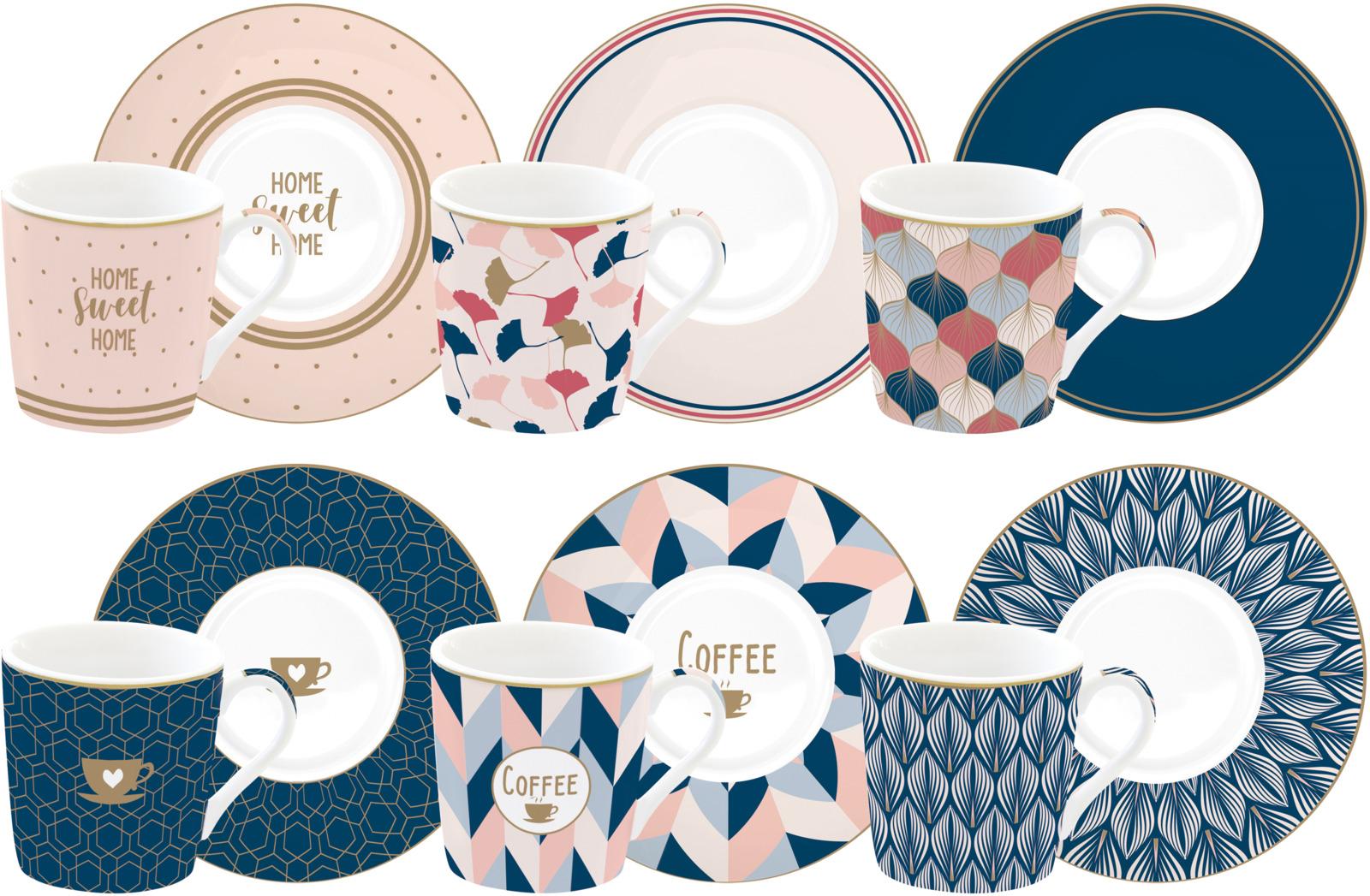 Набор кофейный Easy Life Кофемания Милый дом, цвет: синий, 12 предметов. EL-R0126/CMHO r2s