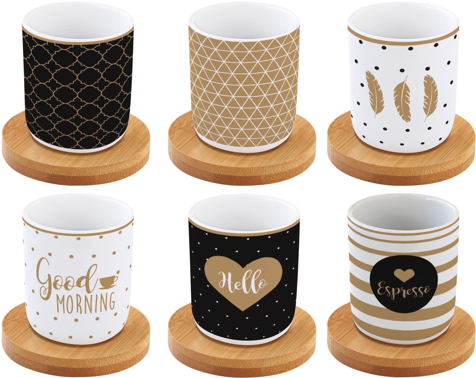 Набор кофейный Easy Life Кофемания Доброе утро, цвет: бежевый, 12 предметов. EL-R0127/CMGM r2s