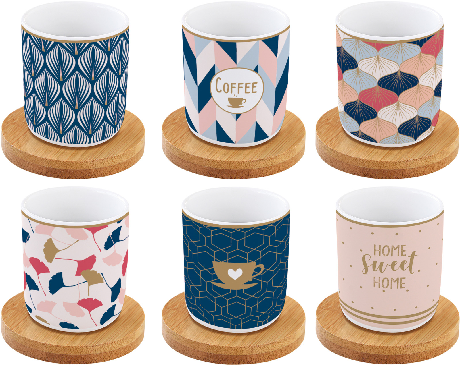 Набор кофейный Easy Life Кофемания Милый дом, цвет: синий, 12 предметов. EL-R0127/CMHO r2s