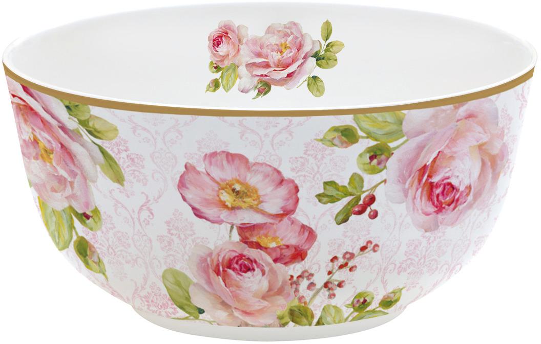 Салатник Easy Life Дамасская роза, диаметр 14 см, цвет: розовый. EL-R0337/FLDA блюдо nuova r2s спагетти диаметр 30 см
