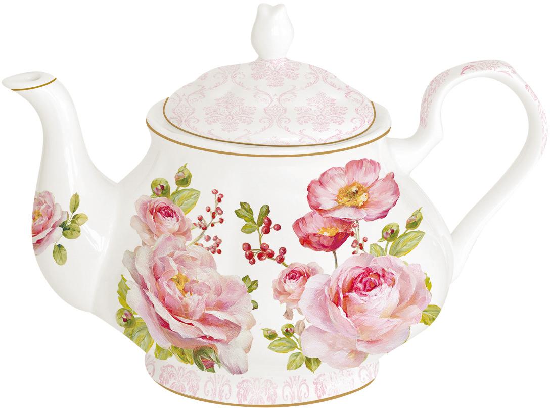 Чайник заварочный Easy Life Дамасская роза, цвет: розовый, 800 мл. EL-R0374/FLDA r2s