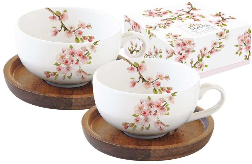 Набор кофейный Easy Life Японская сакура, цвет: розовый, 120 мл, 2 предмета. EL-R1081/SAKU r2s