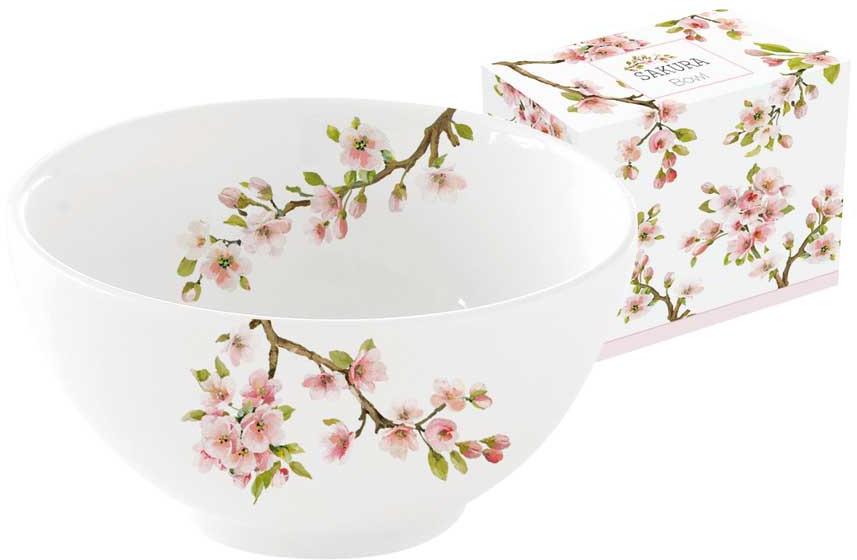 Салатник Easy Life Японская сакура, диаметр 12 см, цвет: розовый, 300 мл. EL-R1085/SAKU блюдо nuova r2s спагетти диаметр 30 см