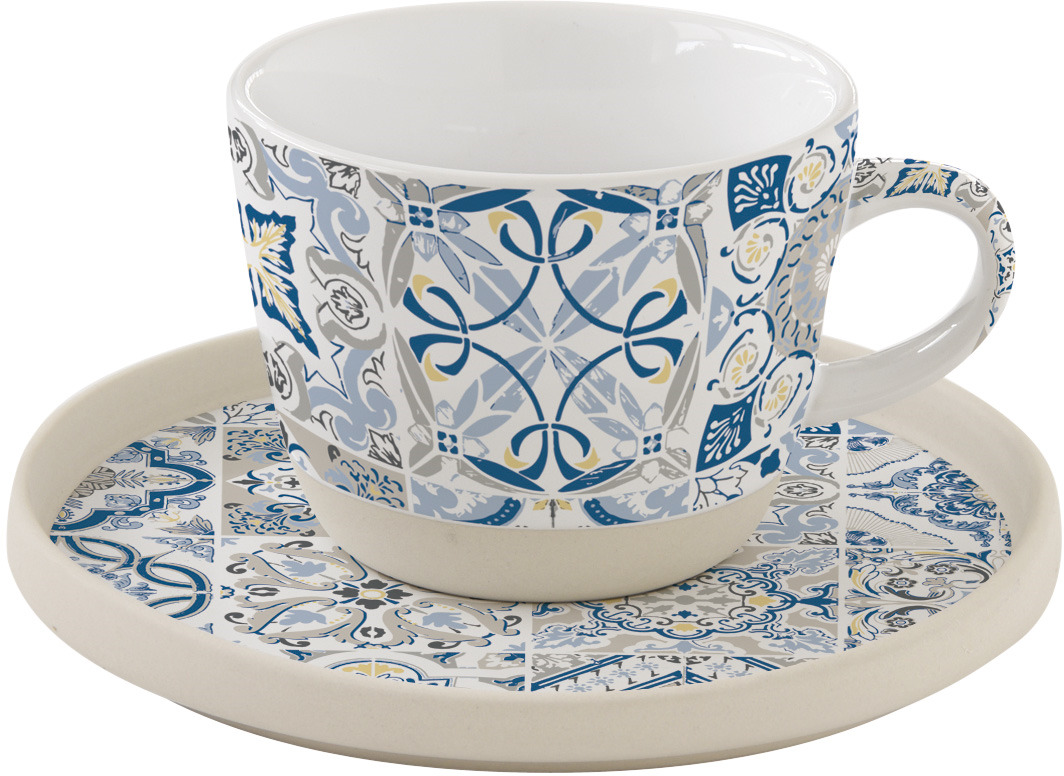 Чайная пара Easy Life Casadecor, цвет: синий, 250 мл. EL-R1655/CADB