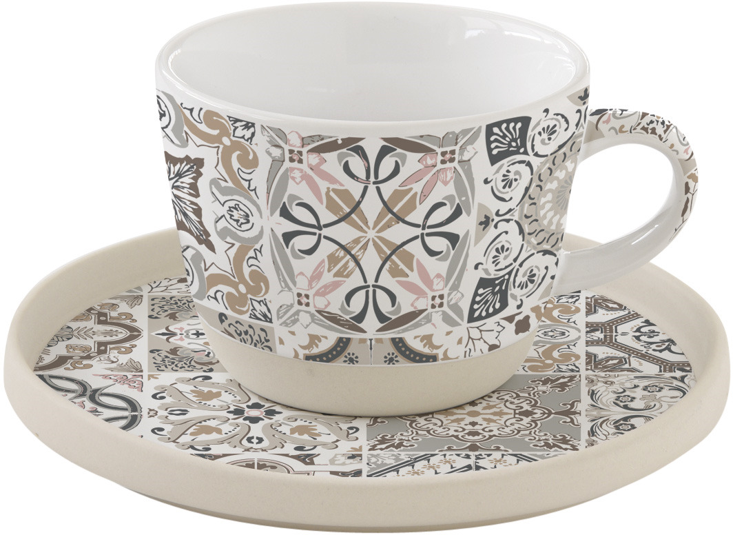 Чайная пара Easy Life Casadecor, цвет: серый, 250 мл. EL-R1655/CADG r2s