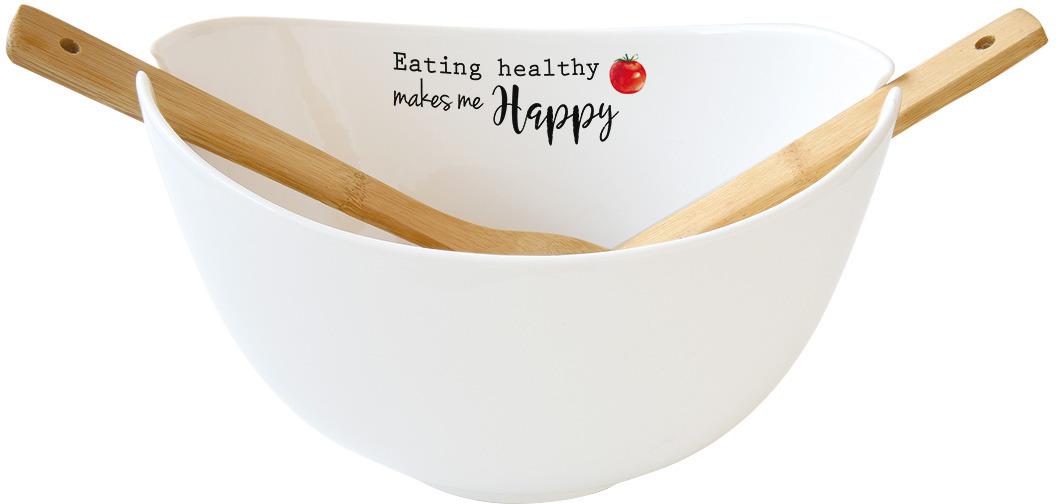 Салатник Easy Life Kitchen Elements, 28 х 16 см, цвет: белый, 650 мл. EL-R1907/KITE