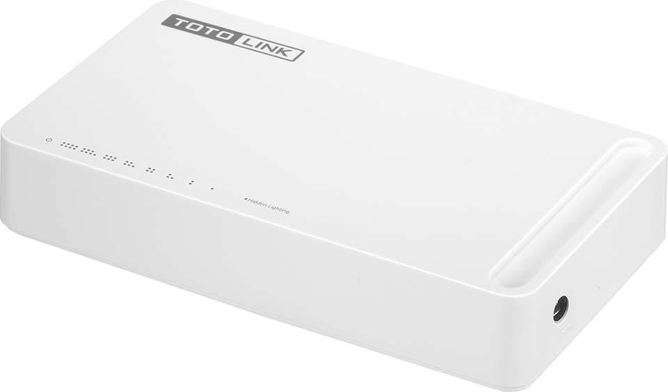 Коммутатор Totolink S808G, цвет: белый