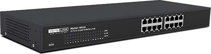 Коммутатор Totolink SG16, цвет: черный