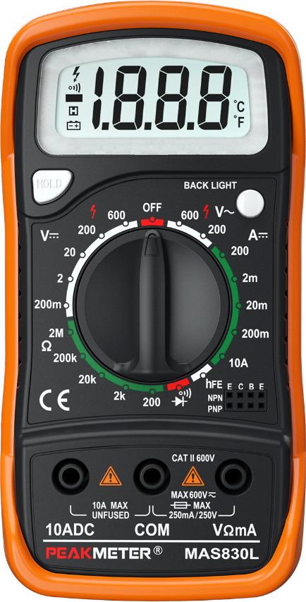 Мультиметр Peakmeter PM830L, цифровой