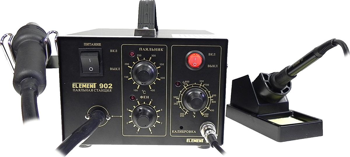 Паяльная станция Element 902, фен+паяльник нагревательный элемент для станции element 702 853d