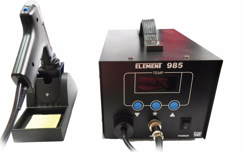 Паяльная станция демонтажная Element 985, (75W) паяльная станция stayer 55370 profi цифровая с жк дисплеем диапазон 160 520°c шаг 10°c 48вт