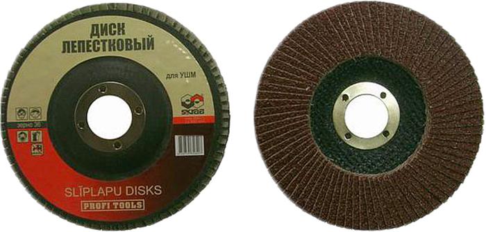 цены на Круг обдирочный Skrab, лепестковый плоский, Р150 А, 125 х 22 мм, 10 шт  в интернет-магазинах