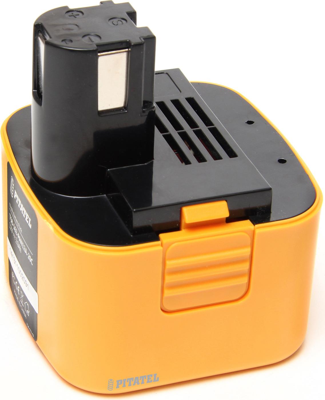 Аккумулятор для инструмента Pitatel TSB-162-PAN12A-20C для PANASONIC, оранжевый, черный аккумулятор для инструмента pitatel для panasonic tsb 182 pan24 30m
