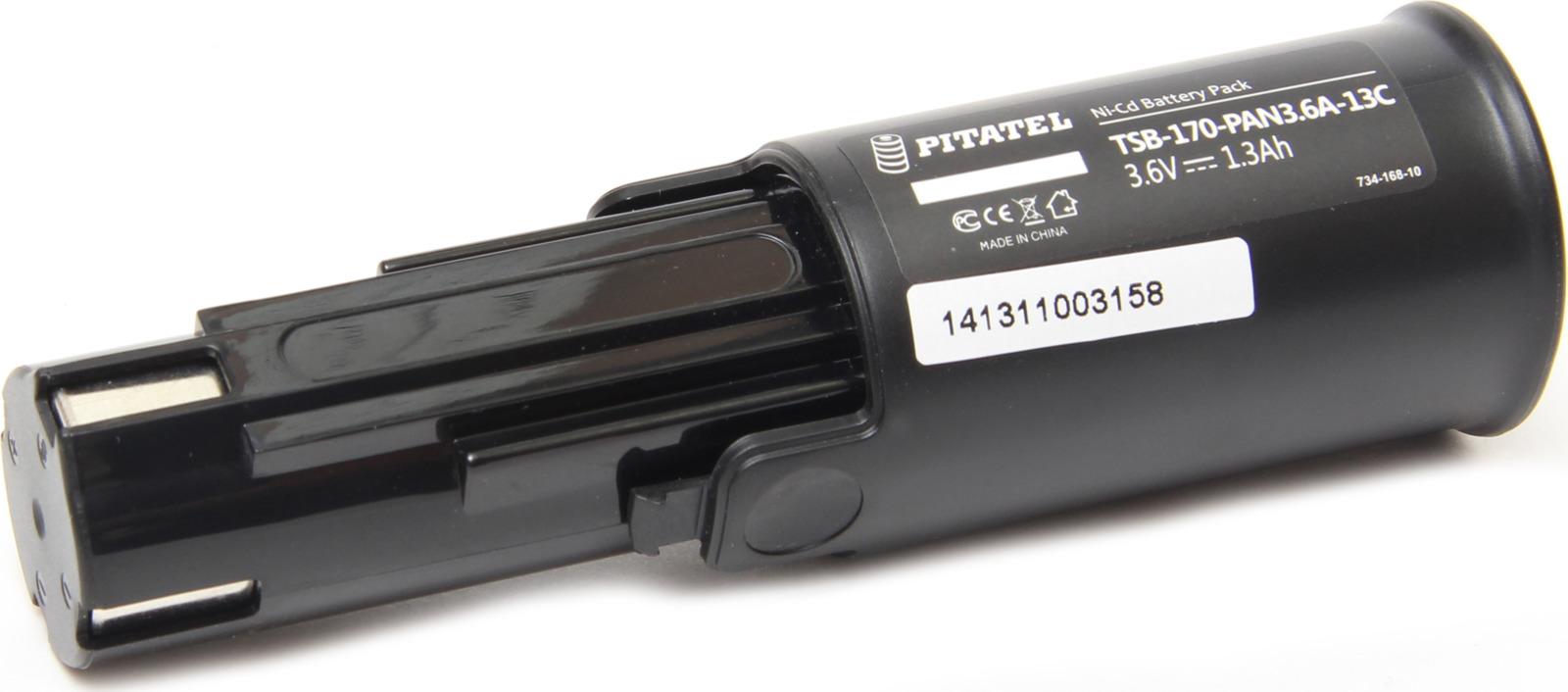 Аккумулятор для инструмента Pitatel TSB-170-PAN3.6A-13C для PANASONIC, черный аккумулятор для инструмента pitatel для panasonic tsb 180 pan72 20c
