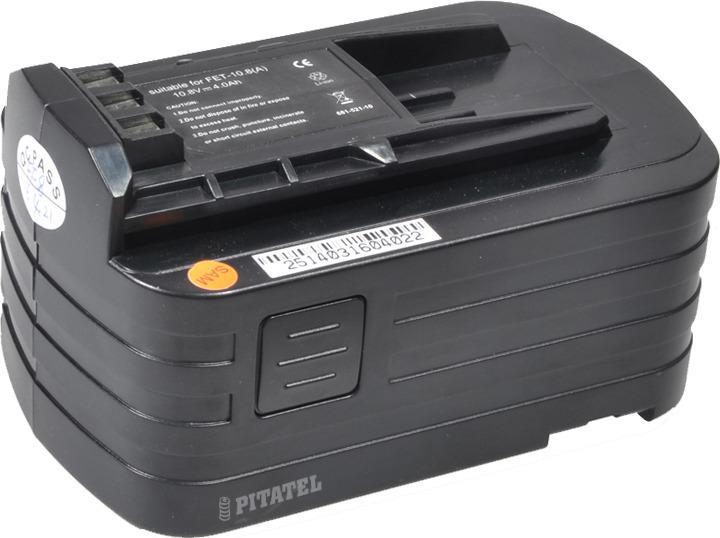 Аккумулятор для инструмента FESTOOL Pitatel TSB-196-FES10-40L, черный аккумулятор для инструмента pitatel для panasonic tsb 215 pan21 6 40l